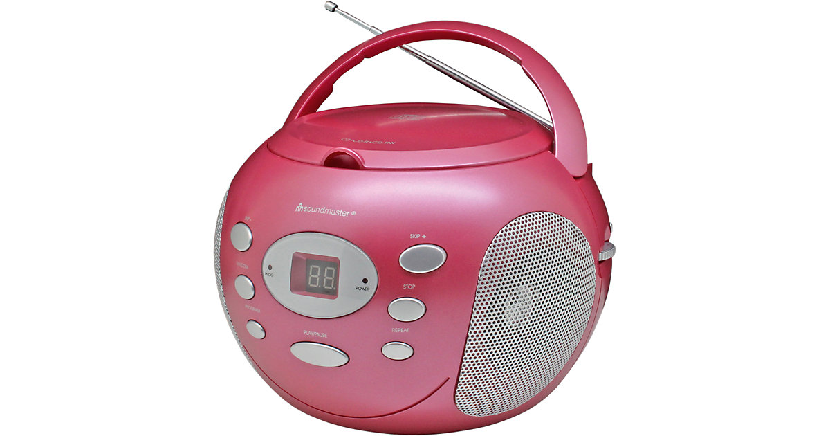 CD Player mit Radio, rosa