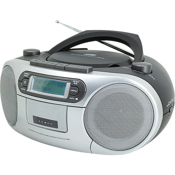 cd player mit dab radio und kassettenspieler grau soundmaster mytoys. Black Bedroom Furniture Sets. Home Design Ideas