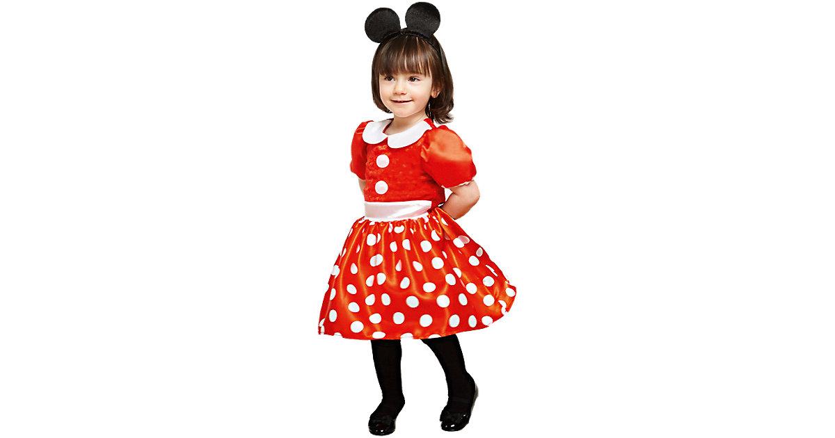 Kostüm Minnie Rot, 2-tlg. rot Gr. 80/86 Mädchen Kleinkinder