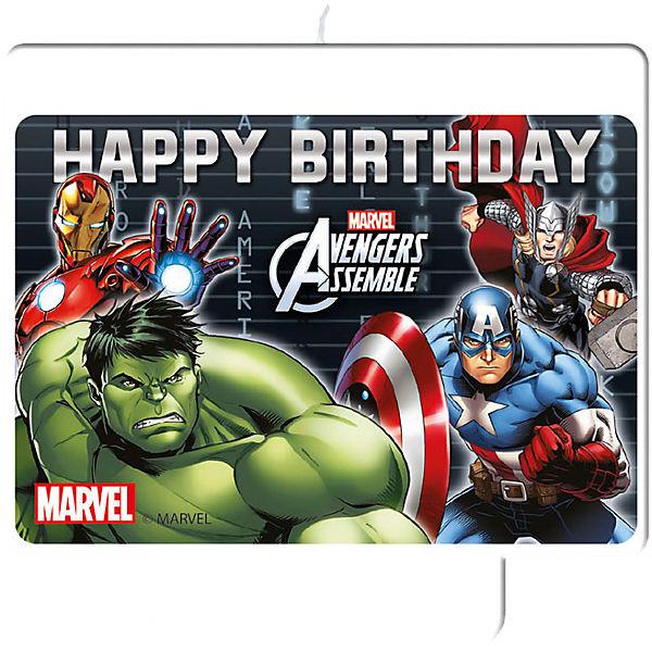 XL-Kerze Happy Birthday Avengers, Marvel Avengers