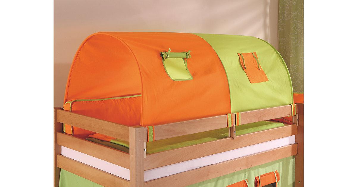 Image of 2er Tunnel Hoch-und Etagenbetten, grün/orange, 150 cm Kinder