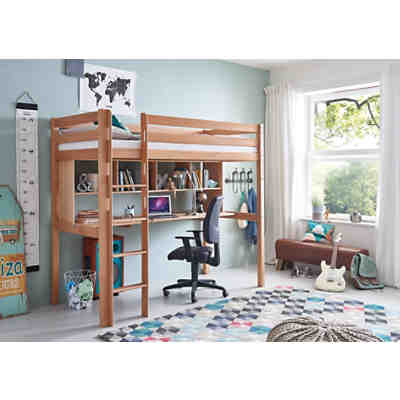 schreibtisch ilka buche massiv natur lackiert relita mytoys. Black Bedroom Furniture Sets. Home Design Ideas