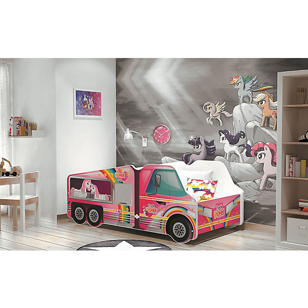 autobett lkw pony inkl lattenrost und matratze pink rosa 70 x 140 cm relita mytoys. Black Bedroom Furniture Sets. Home Design Ideas