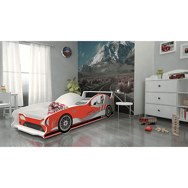 autobett formula inkl lattenrost und matratze rot 80 x 160 cm relita mytoys. Black Bedroom Furniture Sets. Home Design Ideas