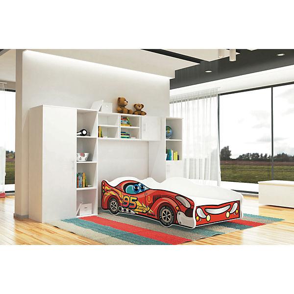autobett turbo inkl lattenrost und matratze rot 80 x 160 cm relita mytoys. Black Bedroom Furniture Sets. Home Design Ideas