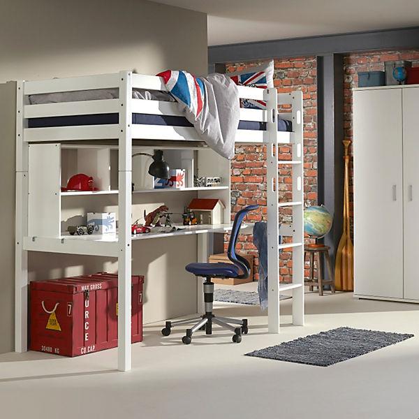 regalaufsatz ilka f r schreibtisch ilka buche massiv wei lackiert relita mytoys. Black Bedroom Furniture Sets. Home Design Ideas