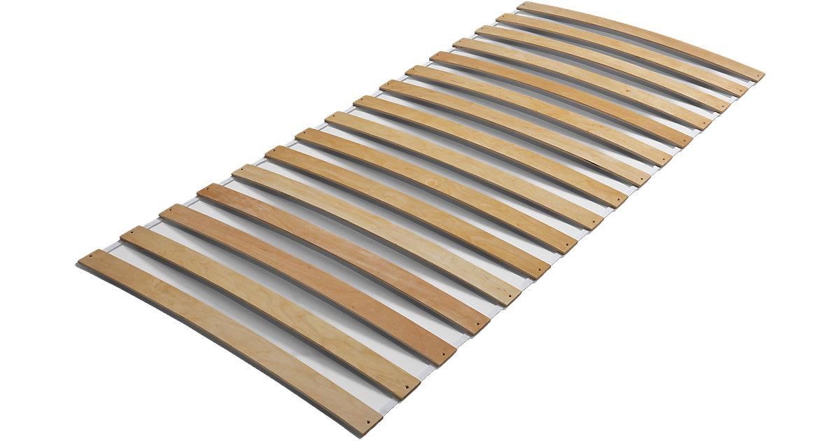 Rollrost mit Federleisten, 90 x 200 cm holzfarben