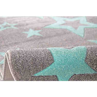 kinderteppich by svanhilde design pinguin elliot silbergrau happy rugs mytoys. Black Bedroom Furniture Sets. Home Design Ideas