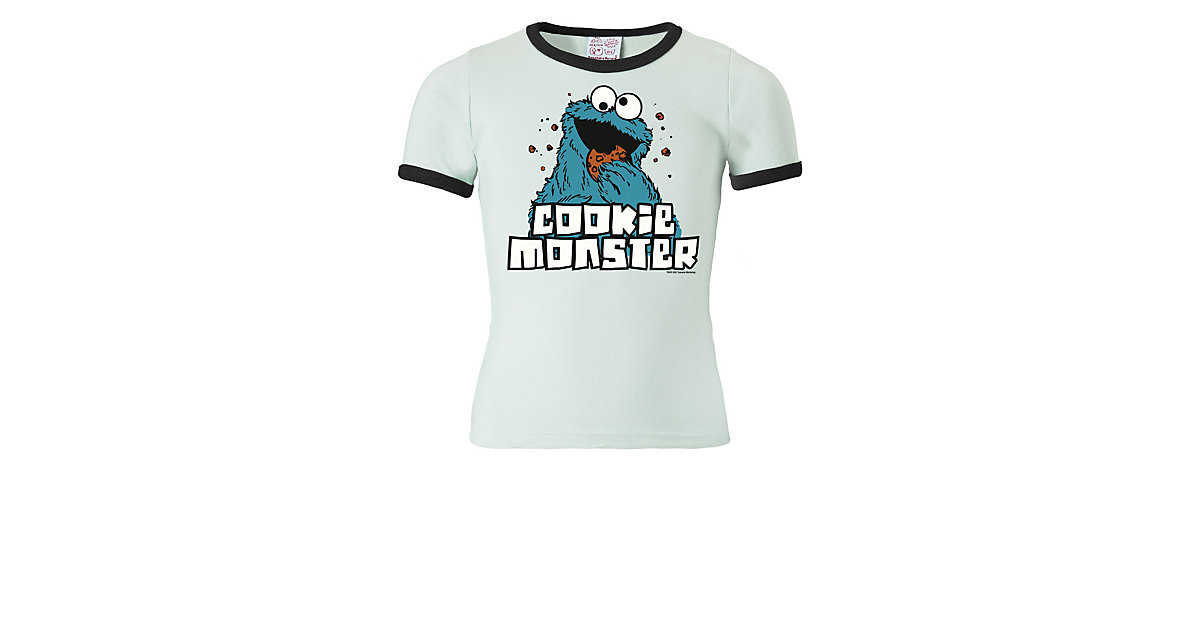1612cd1b6b Logoshirt T-Shirt Krümelmonster - Sesamstrasse T-Shirts weiß-kombi Gr. 104