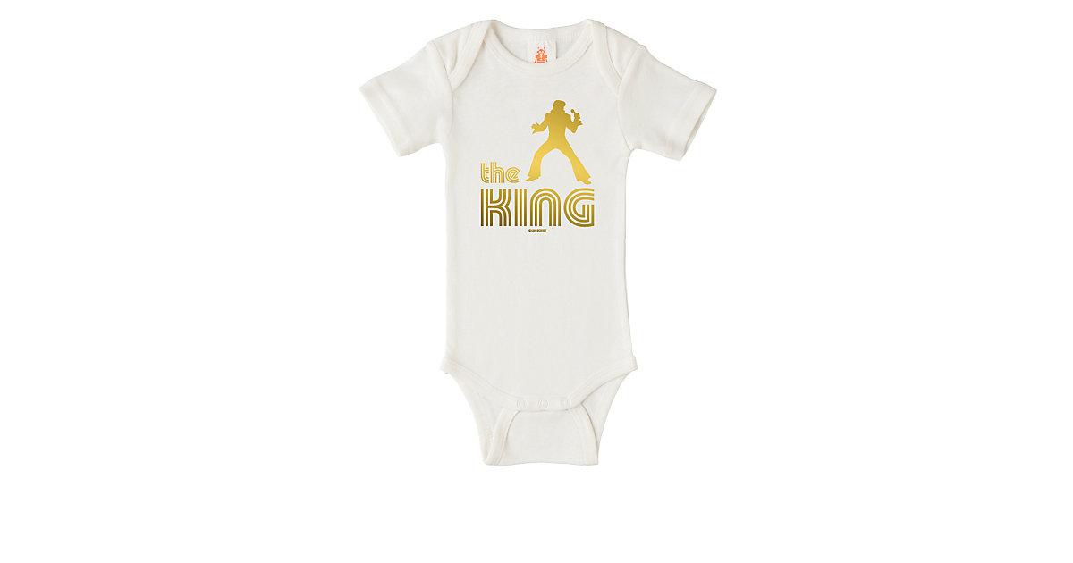 Logoshirt Body mit The King-Fontdruck Strampler offwhite Gr. 86/92   Unterwäsche & Reizwäsche > Bodies & Corsagen > Shirtbodys   Logoshirt®