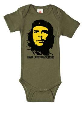 Baby Strampler LOGOSHIRT Baby Body Che Guevara Vintage olivgrün