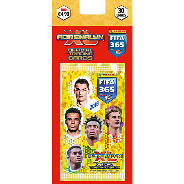 Panini FIFA 365 Saison 2017/2018 Adrenalyn XL Blister mit 5 Booster, Top Media