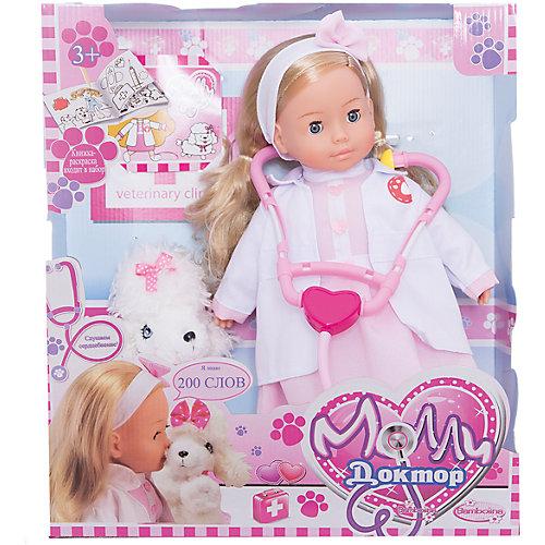 Интерактивная кукла Dimian Bambolina Доктор Молли с собачкой, 40 см