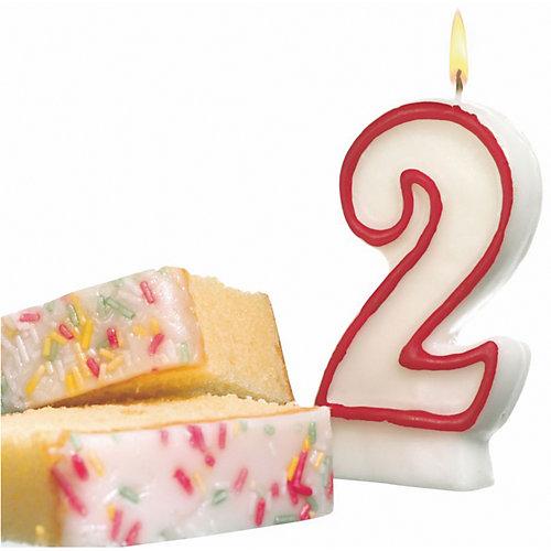 "Свеча-цифра для торта Susy Card ""2"" 8,5 см, красная от Susy Card"