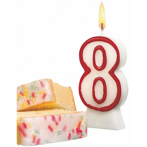 "Свеча-цифра для торта Susy Card ""8"" 8,5 см, красная от Susy Card"