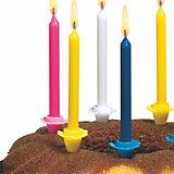 Свечи для торта Susy Card с подсвечниками 24 шт., разноцветные