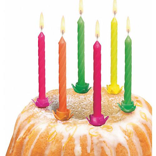 Свечи для торта Susy Card с подсвечниками 12 шт., разноцветные от Susy Card