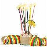 Свечи для коктейля Susy Card с блёстками 24 шт., разноцветные