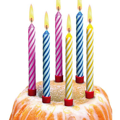 Свечи для торта Susy Card большие 12 шт., разноцветные от Susy Card
