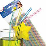 Трубочки для коктейля Susy Card 100 шт, белые с полосками
