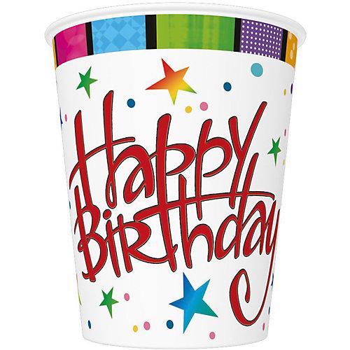 "Стаканы Susy Card ""Happy Birthday"" 250 мл., 8 шт от Susy Card"