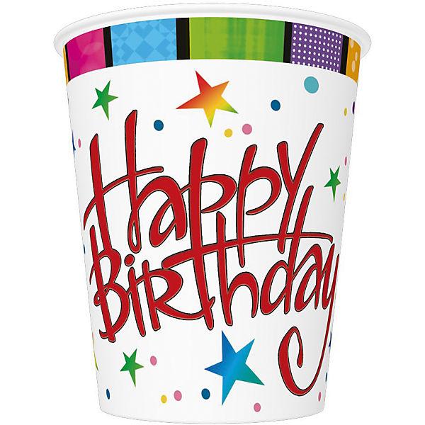 "Стаканы Susy Card ""Happy Birthday"" 250 мл., 8 шт"