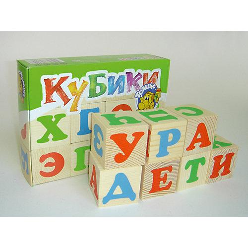 """Деревянные кубики Томик """"Алфавит"""" 12 шт от Томик"""