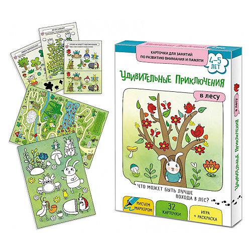 """Обучающие карточки Маленький гений """"Удивительные приключения в лесу"""" от Маленький гений"""