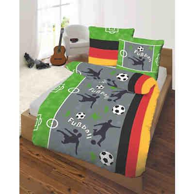 kinderbettw sche fu ball biber 135 x 200 cm mytoys. Black Bedroom Furniture Sets. Home Design Ideas