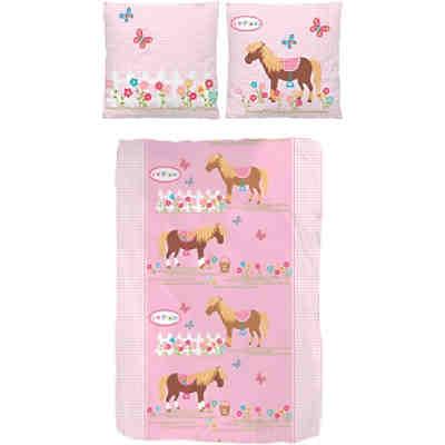 pferdebettw sche kinderbettw sche pferde biber 135 x. Black Bedroom Furniture Sets. Home Design Ideas