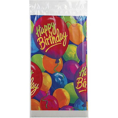 """Скатерть Веселая затея """"С днем рождения. Шары"""", 140х260 см от Веселая Затея"""