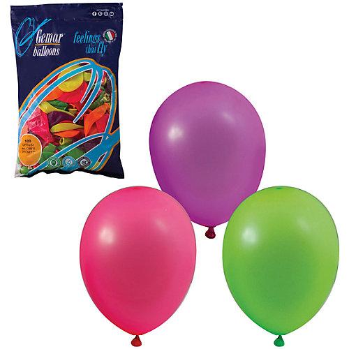 Воздушные шары 10 Веселая затея 100 шт, 25 см (12 цветов неон) от Веселая Затея