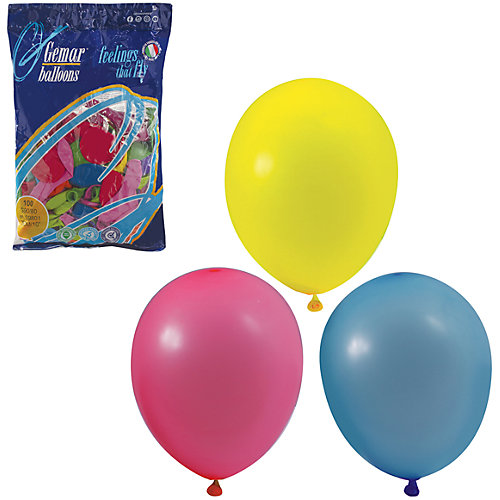 Воздушные шары 10 Веселая затея 100 шт, 25 см (12 цветов пастель) от Веселая Затея
