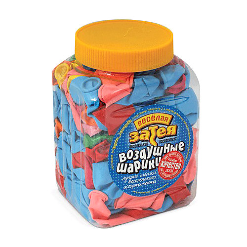 Воздушные шары 10 Веселая затея 200 шт, 25 см (14 цветов пастель) от Веселая Затея