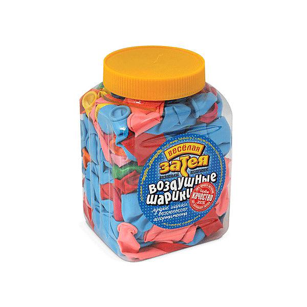 Воздушные шары 10 Веселая затея 200 шт, 25 см (14 цветов пастель)