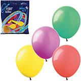 Воздушные шары 7 Веселая затея 100 шт, 18 см (12 цветов пастель)