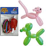 Воздушные шары для моделирования Веселая затея 100 шт, с насосом