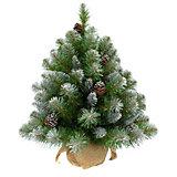 """Искусственная елка Triumph Tree """"Императрица. С шишками, заснеженная"""", 90 см (белая, зеленая)"""