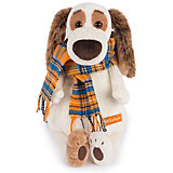 Мягкая игрушка Budi Basa Собака Бартоломей в шарфе, 27 см