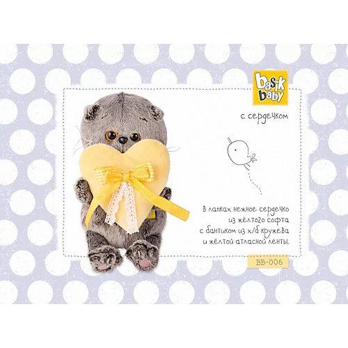 Мягкая игрушка Budi Basa Кот Басик Baby с сердечком, 20 см от Budi Basa