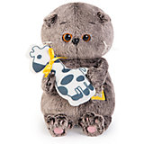 Мягкая игрушка Budi Basa Кот Басик Baby с жирафом, 20 см