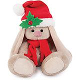 Мягкая игрушка Budi Basa Зайка Ми в красном колпачке и шарфе, 15 см
