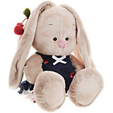 Мягкая игрушка Budi Basa Зайка Ми в костюмчике и с войлочной вишней, 23 см