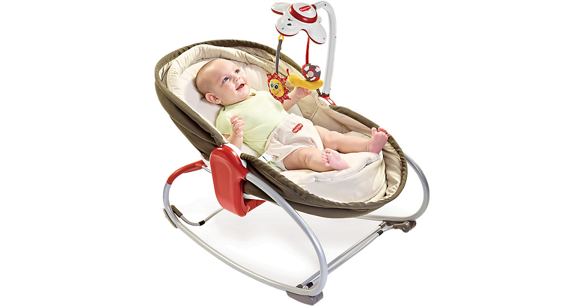 Tiny Love · 3-in-1 Babywippe Rocker Napper, braun mit Musikmobile