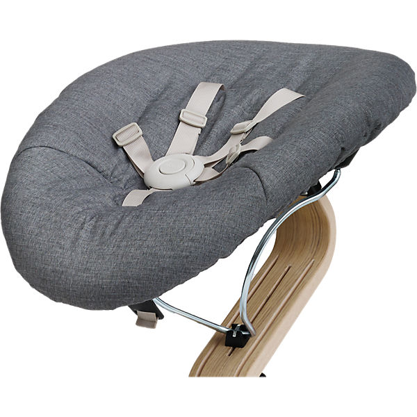 Nomi Baby grey mit Matratze dark grey/sand