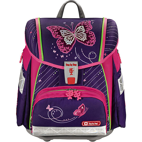 Schulranzenset TOUCH 2 Shiny Butterfly, 4-tlg. - Kollektion 2018/2019