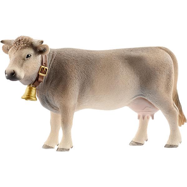 Schleich 13874 Farm World: Braunvieh Kuh, Schleich