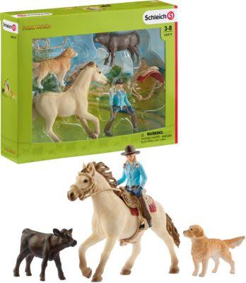 Kleinkindspielzeug Spielset Bull riding mit CowboySchleich 41419Schleich Farm World Spielzeug