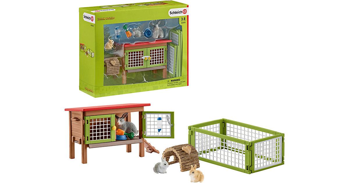 Schleich 42420 Farm World: Kaninchenstall   Garten > Tiermöbel > Hasenställe-Kaninchenställe   Schleich