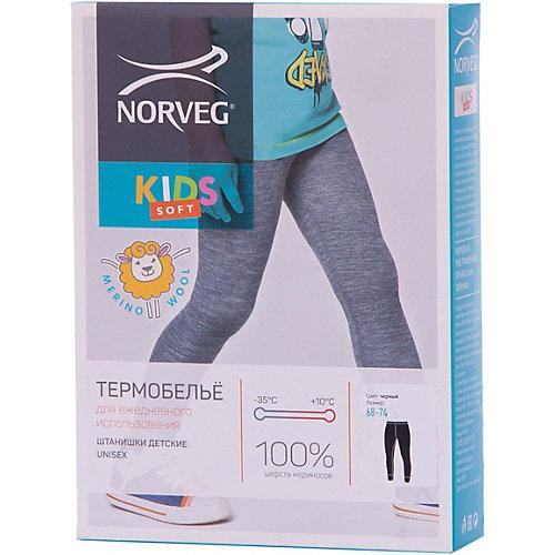 Термобелье Norveg: леггинсы - черный от Norveg